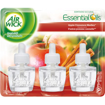 Air Wick Scented Oil Air Freshener with Essential Oils Apple Cinnamon Medley Scent Triple Refill
