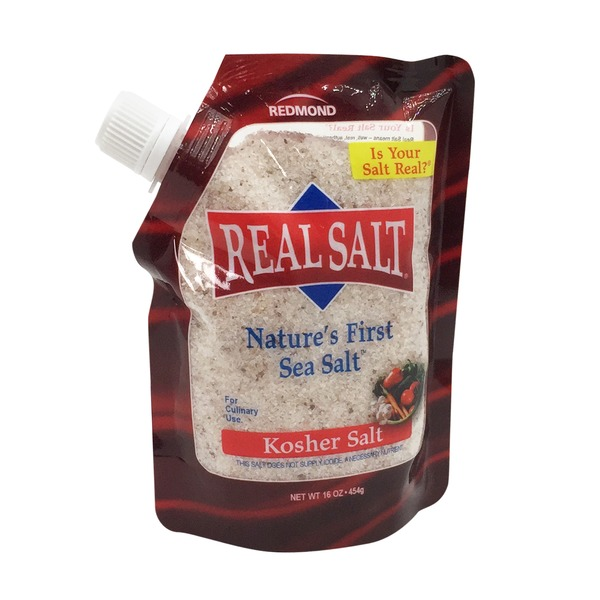 Real Salt Kosher, Sea Salt, Pouch