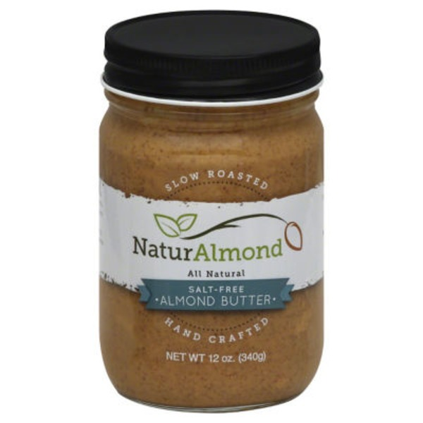 NaturAlmond Hand Crafted Salt-Free Almond Butter