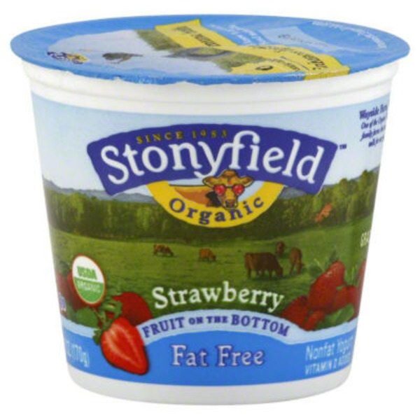 Stonyfield Organic Organic Fruit on the Bottom Fat Free Strawberry Yogurt