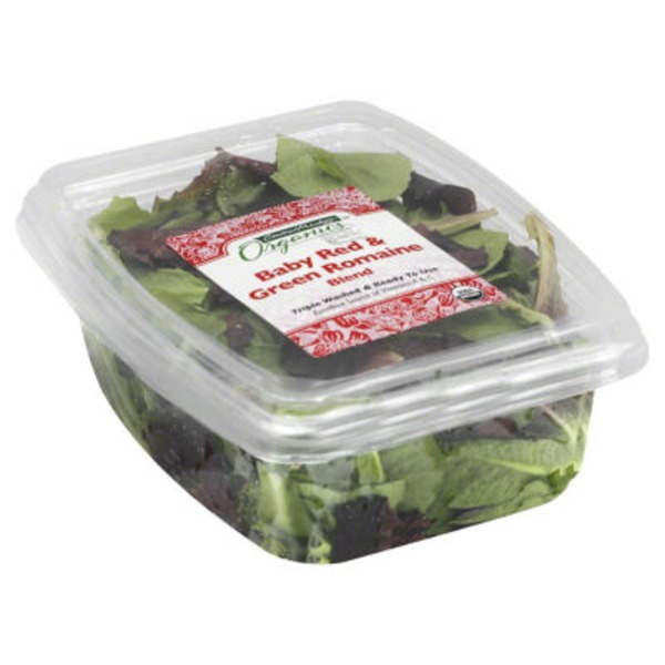 Central Market Organics Baby Red & Green Romaine Blend