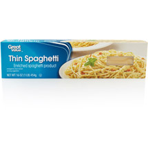 Great Value Thin Spaghetti Pasta