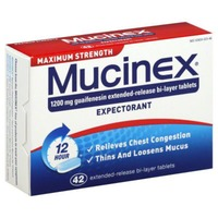Mucinex 12 Hour Maximum Strength Extended-Release Bi-Layer Tablets Expectorant