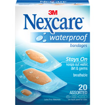 Nexcare Assorted Clear Waterproof Bandages