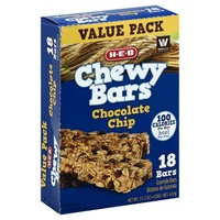 H-E-B Chocolate Chip Chewy Bars 18 Ct
