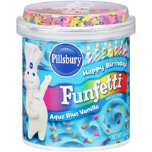 Pillsbury Happy Birthday Funfetti Aqua Blue Vanilla Frosting