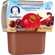 Gerber 2nd Foods Apples & Cherries Baby Food