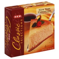 H-E-B Classic Selections New York Cheesecake On Graham Cracker Crust