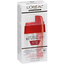 Dermo-Expertise Advanced Revitalift Double Eye Lift with Pro-Tensium E + Fortified Pro-Retinol A Immediate Action Under Eye Anti-Wrinkle Cream & Upper Eye Lifting Gel .5 fl oz