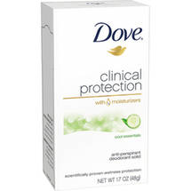 Dove Clinical Protection Solid Cool Essentials W/Cucumber And Green Tea Scent Deodorant