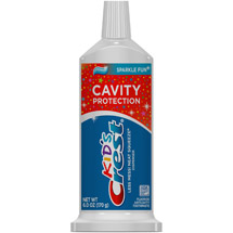 Crest Kid's Cavity Protection Neat Squeeze Sparkle Fun Flavor Toothpaste