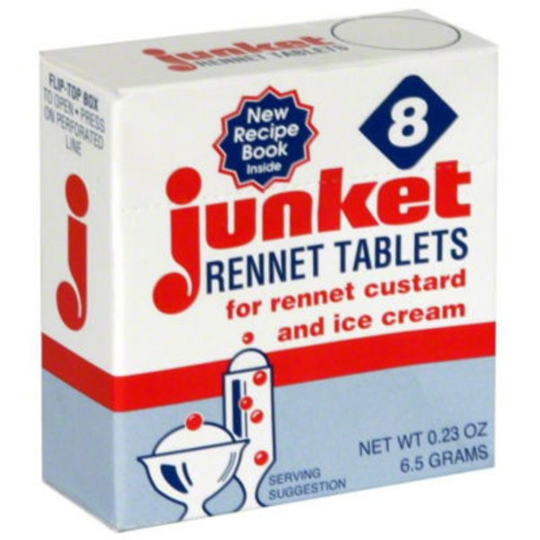 Junket For Rennet Custard & Ice Cream Rennet Tablets