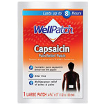 Deep Heating Well Patch For Muscle & Joint Pain Topical Analgesic with 0.025% Capsaicin Pain Relief Pads