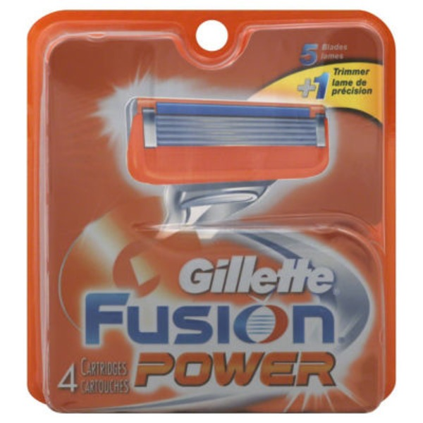 Gillette Fusion Power Men's Razor Blade Refills, 4 Count Male Premium BladeRazor System