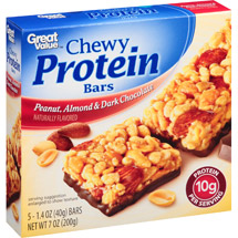 Great Value Peanut Almond & Dark Chocolate Chewy Protein Bars