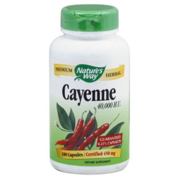 Nature's Way Cayenne Veg. Capsules - 180 CT
