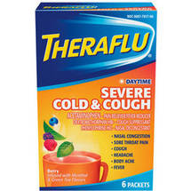 Theraflu Daytime Severe Cold & Cough Berry Flavor Lipton Tea