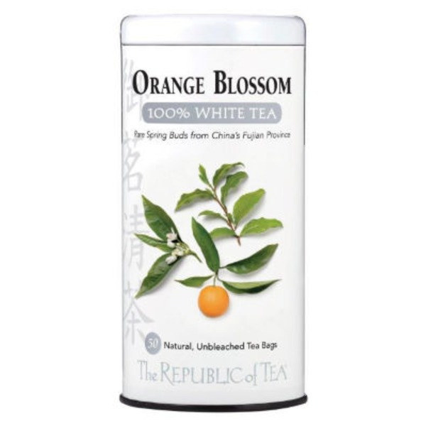 The Republic of Tea Orange Blossom 100% White Tea Bags
