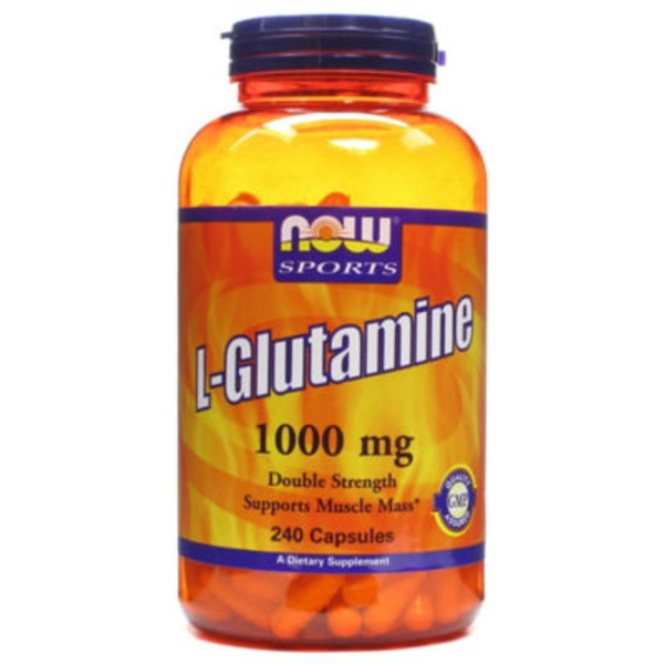 Now L-Glutamine 1000 mg Capsules