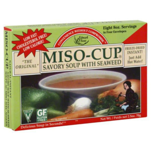 Edward & Sons Edward & Sons Miso-Cup Savory South with Seaweed - 4 CT