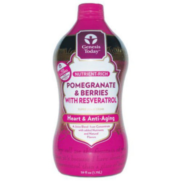 Genesis Today Pomegranate And Berries With Resveratrol Heart And Anti Aging Super Juice Drink