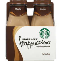 Starbucks Mocha Frappuccino Coffee Drink 4 Ct/38 Fl Oz
