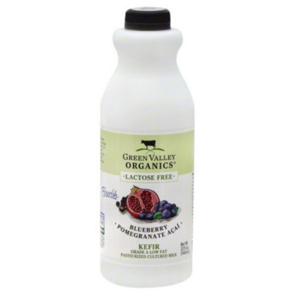 Green Valley Organics Lactose Free Blueberry Pomegranate Acai Kefir