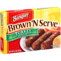 Banquet Brown 'N Serve Turkey Sausage Links