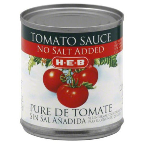 H-E-B Tomato Sauce No Salt Added