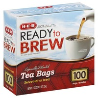 H-E-B Ready To Brew Tea Bags Served Hot Or Iced