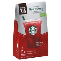 Starbucks Via Refreshers Very Berry Hibiscus Instant Beverage
