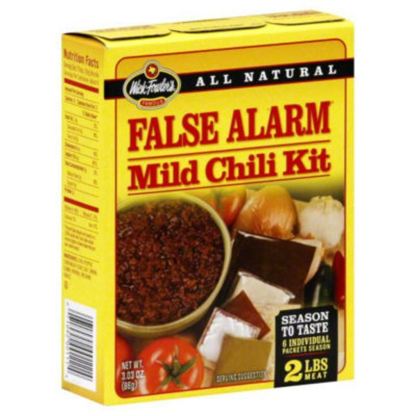 Wick Fowler's False Alarm Mild Chili Kit