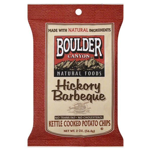 Boulder Canyon Potato Chips, Kettle Cooked, Hickory Barbeque