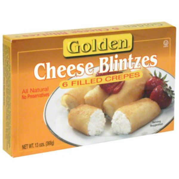 Golden. Cheese Blintzes, Filled Crepes