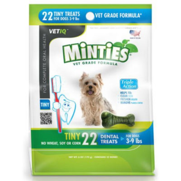Vet IQ Minties Dental Treats For Dogs 3-9 Pounds