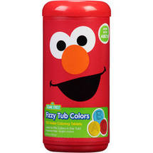 Sesame Street Fizzy Tub Colors Water Coloring Tablets