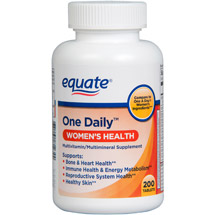 Equate Women's With Calcium Iron & Zinc Dietary Supplement 200 ct