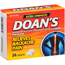 Doan's Extra Strength Magnesium Salicylate Tetrahydrate Pain Reliever Caplets