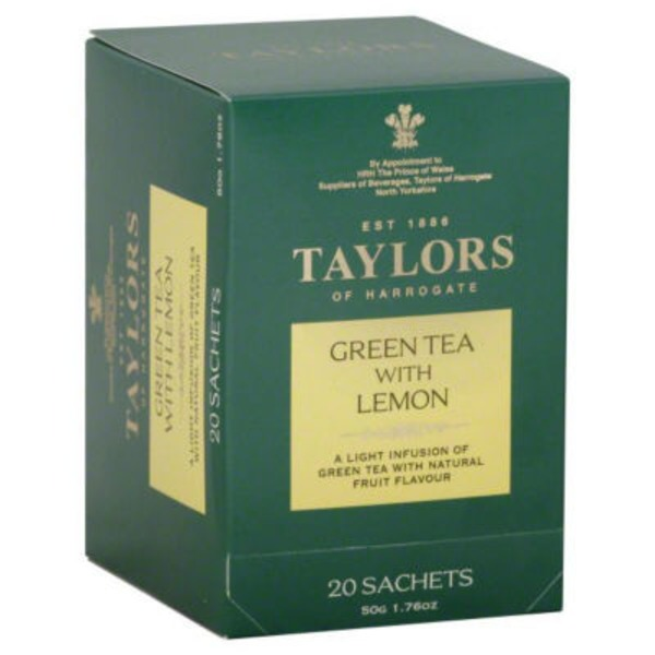 Taylors of Harrogate Green Tea, with Lemon