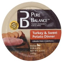 Pure Balance Turkey/Sweet Potato Canned Cat Food Cup