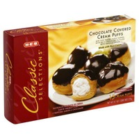H-E-B Classic Selection Chocolate Covered Cream Puffs
