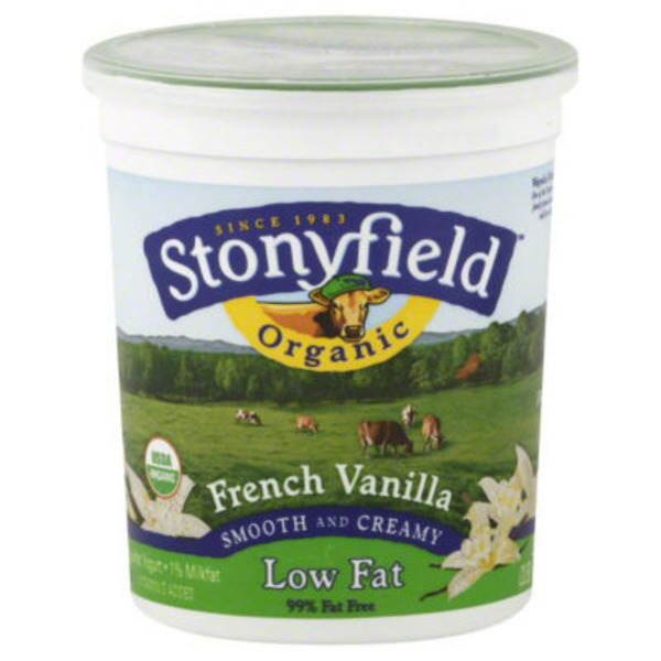Stonyfield Organic Organic Smooth & Creamy Lowfat French Vanilla Yogurt