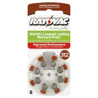 Rayovac Batteries Hearing Aid Size 312