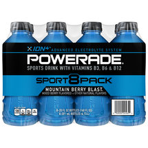 Powerade Mountain Blast 20 Oz Liquid Hydration   Energy Drink