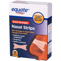 Equate Extra Strength Large Nasal Strips Tan