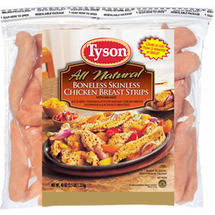 Tyson Boneless Skinless Chicken Breast Strips