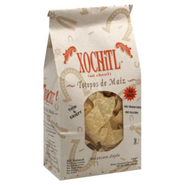 Xochitl Mexican Style White Corn Chips No Salt