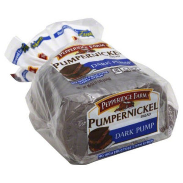 Pepperidge Farm Fresh Bakery Jewish Pumpernickel Dark Pump Bread