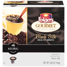 Folgers Gourmet Selections K-Cups Black Silk Dark Roast Coffee