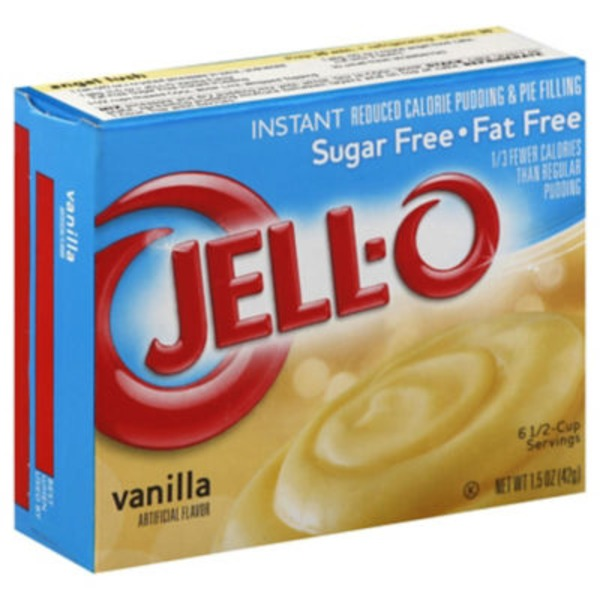 Jell-O Sugar Free Fat Free Vanilla Instant Reduced Calorie Pudding & Pie Filling